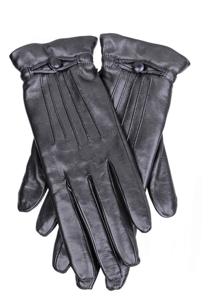 DEMI ISELIN Dark Grey Leather Women Gloves