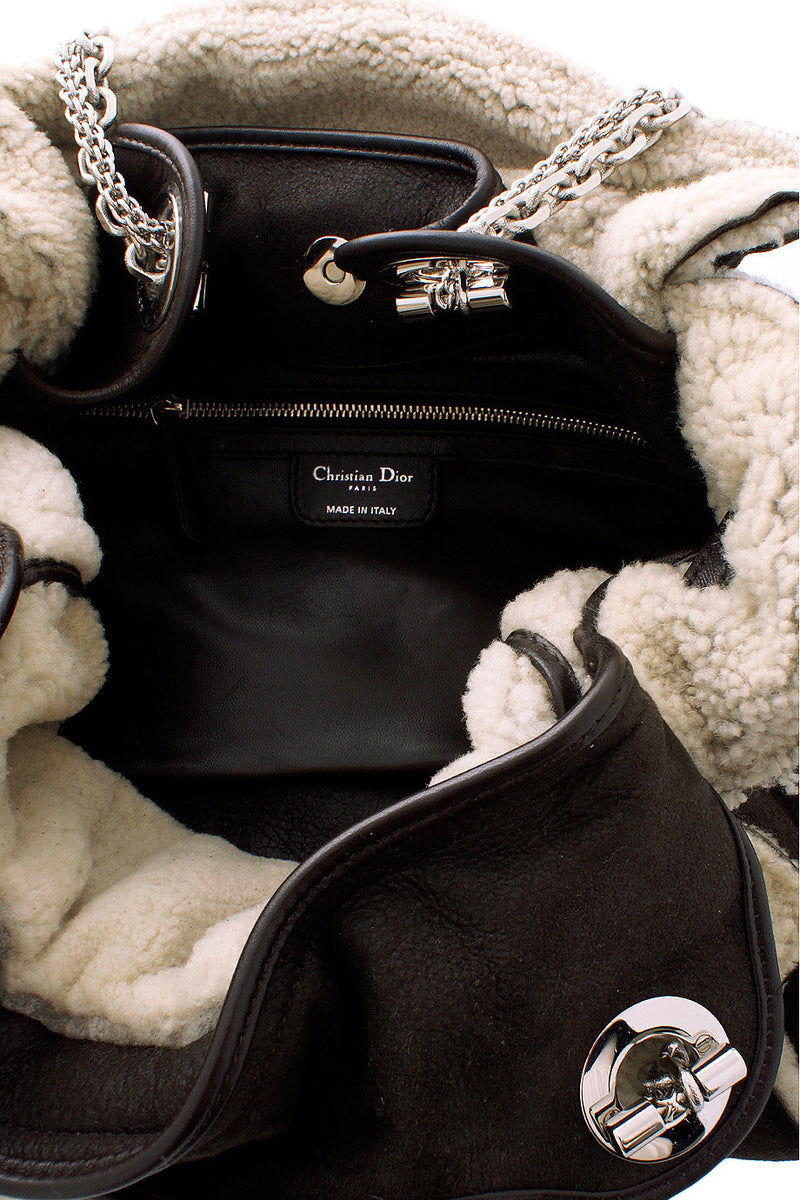 DIOR CANNAGE AGNEAU Brown Leather Bag