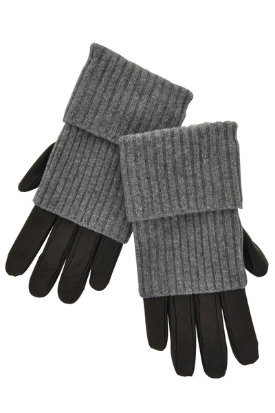 Dolce & Gabbana VALIA Grey Leather Women Gloves