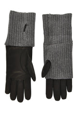 Dolce & Gabbana Valia Grey Leather Gloves