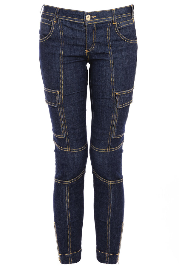 Dolce & Gabbana BLUE DENIM Zipper Jeans