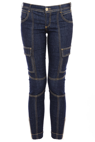 BLUE DENIM Zipper Jeans