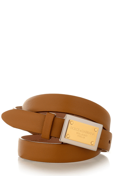 Dolce & Gabbana CAMMELO Soft Leather Belt