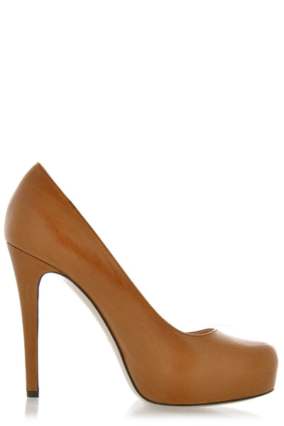 CARAMELLO Decollette Bufalo Leather Pumps
