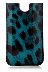 Dolce & Gabbana LEOPARD Patent Blue iPhone® Case