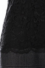 Dolce & Gabbana Lace & Tweed Dress