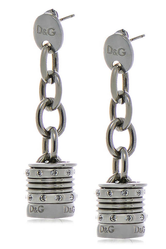 Dolce & Gabbana VINTAGE Silver Engraved Earrings
