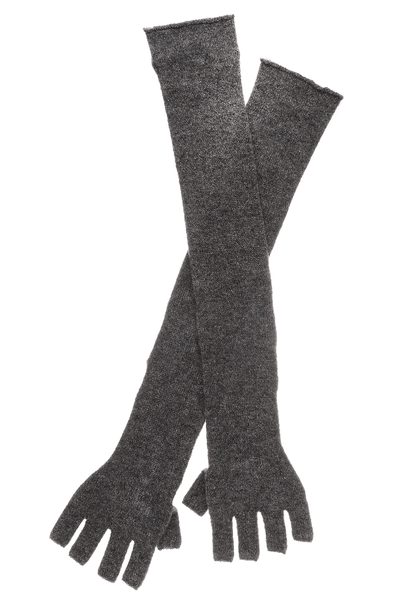 ENZA COSTA CASHMERE Long Wool Fingerless Grey Woman Gloves
