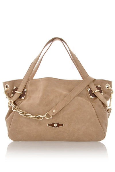 ELLIOTT LUCCA CORDOBA Cafe Au Lait Satchel Bag