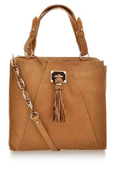 ELLIOTT LUCCA NARRILLOS Saddle Exotic Tote