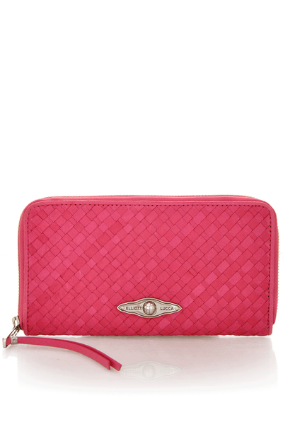 ELLIOTT LUCCA LUCCA Bright Pink Zip Wallet