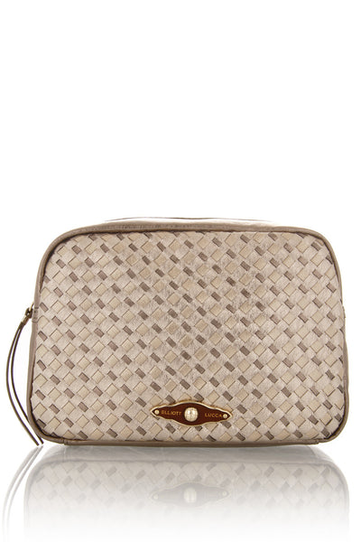 ELLIOTT LUCCA MILLANA Metallic Gold Pouch Bag