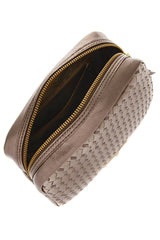 ELLIOTT LUCCA Leather Woman Clutch Bags - MILLANA Metallic Gold Leather Clutch Bag