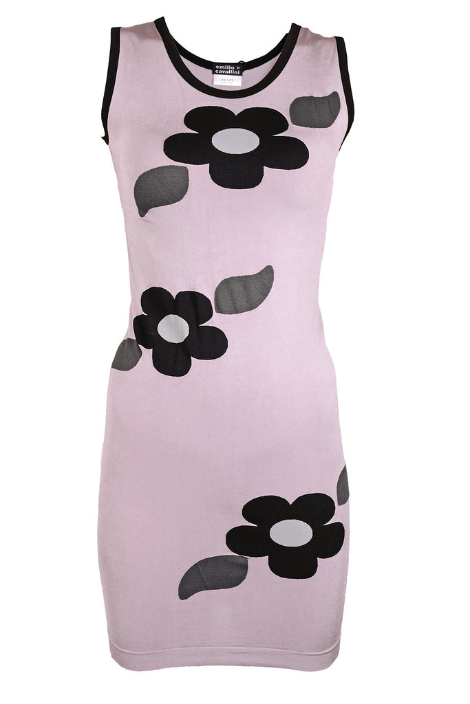 EMILIO CAVALLINI ALLINA Lilac Mini Flower Dress