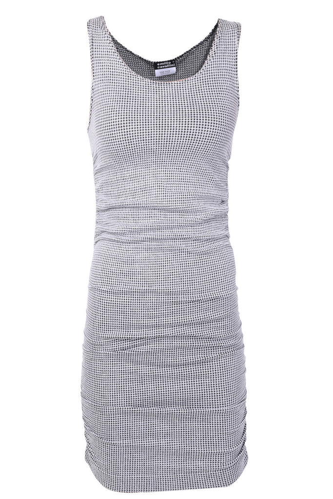 EMILIO CAVALLINI HOUNDSTOOTH Fitted Dress