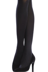 EMILIO CAVALLINI OPAQUE 3 DIMENSIONS RIBBED Tights Navy