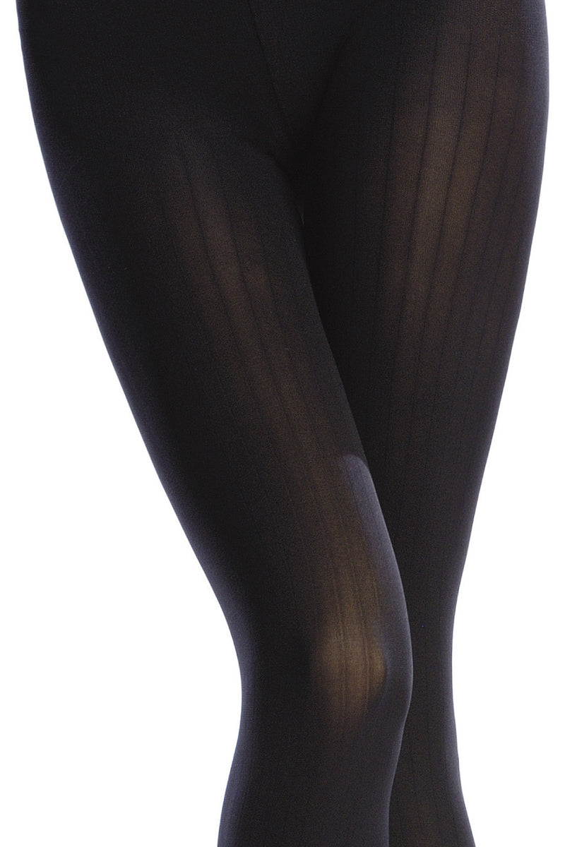 EMILIO CAVALLINI OPAQUE 3 DIMENSIONS RIBBED Tights RUBARB