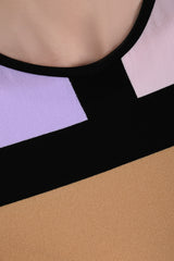 EMILIO CAVALLINI SHERYLIN Color Block Dress