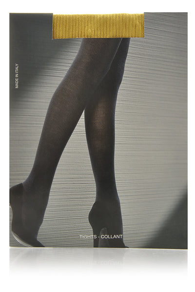 EMILIO CAVALLINI SHINY Rib Tights Navy