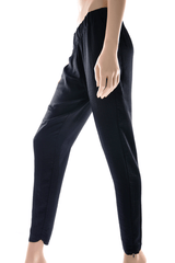 ENZA COSTA BLACK Wide Leg Pants