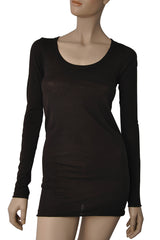 ENZA COSTA BOLD Brown Scoop Top