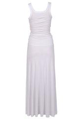 ENZA COSTA BOLD Smocked White Maxi Dress