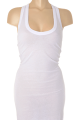 ENZA COSTA BOLD White Racer Tunic