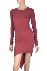 ENZA COSTA - CASHMERE Twist Blush Tunic Dress Woman Clothing