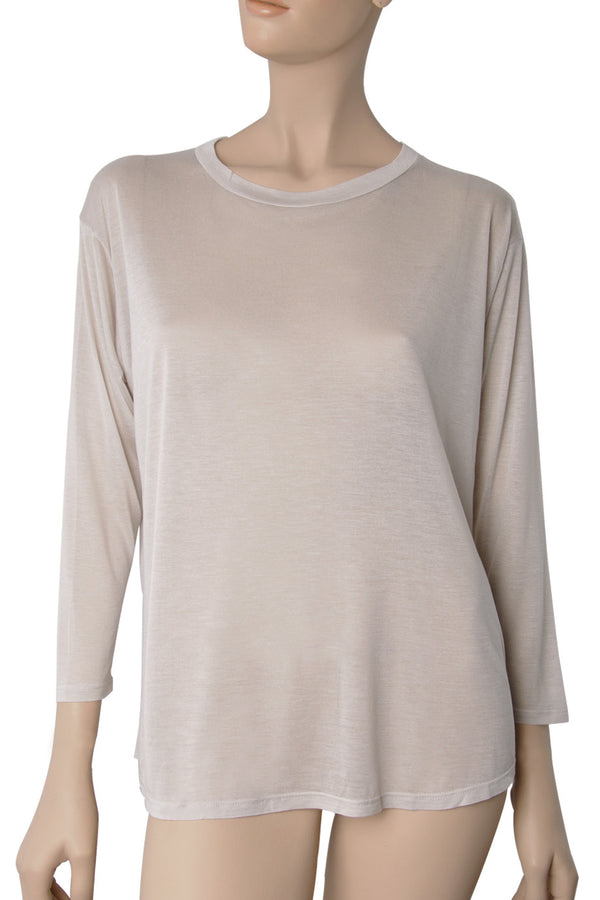 ENZA COSTA CREW Ivory Loose Top