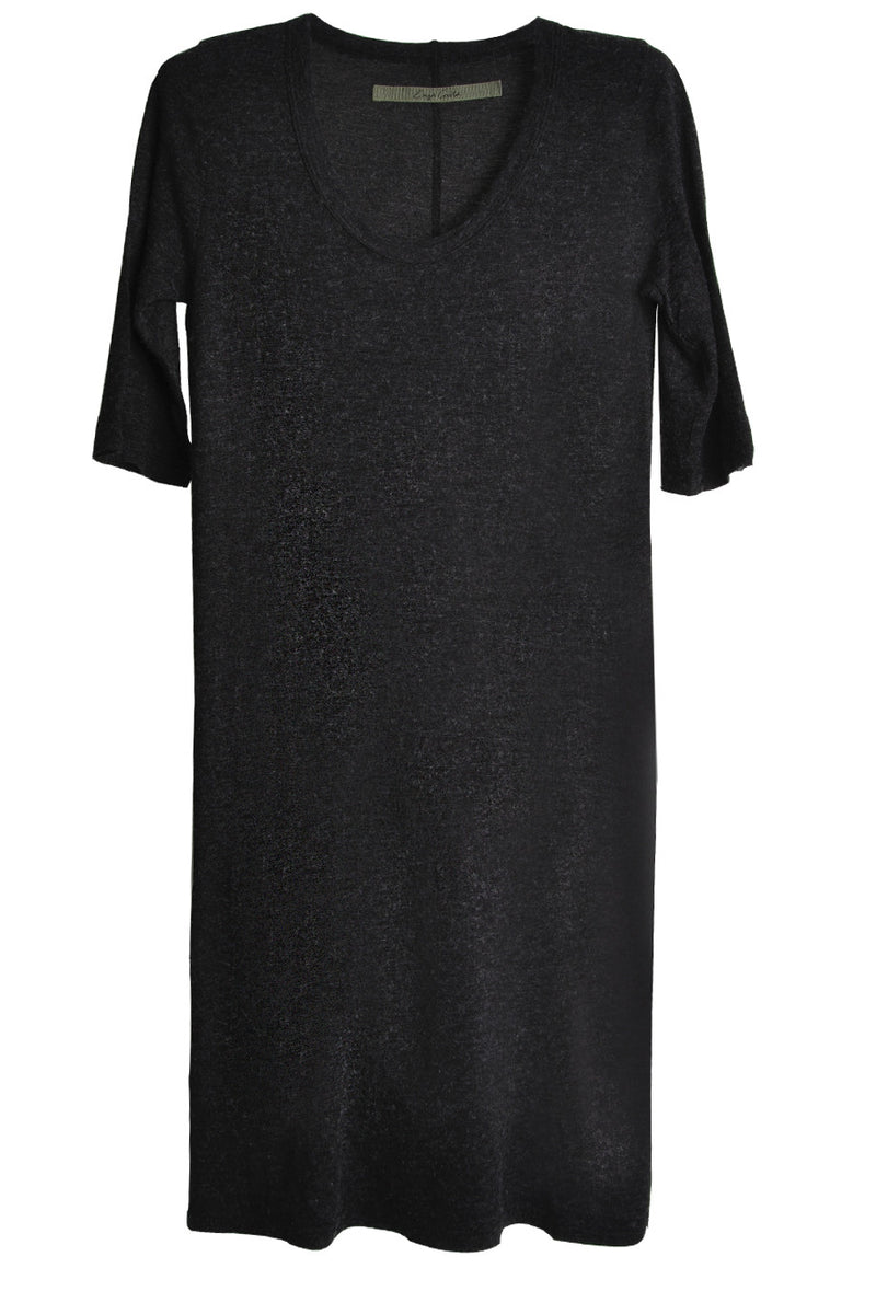 ENZA COSTA ELBOW Charcoal Sleeve Scoop