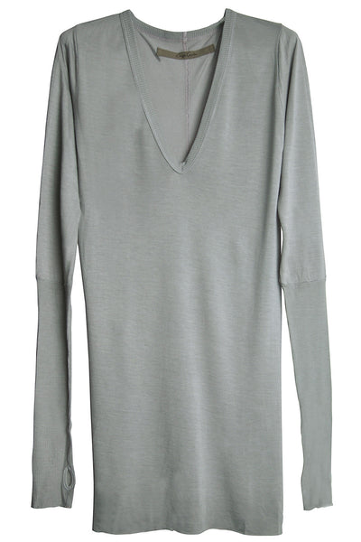 ENZA COSTA FROST Cuffed Grey Top