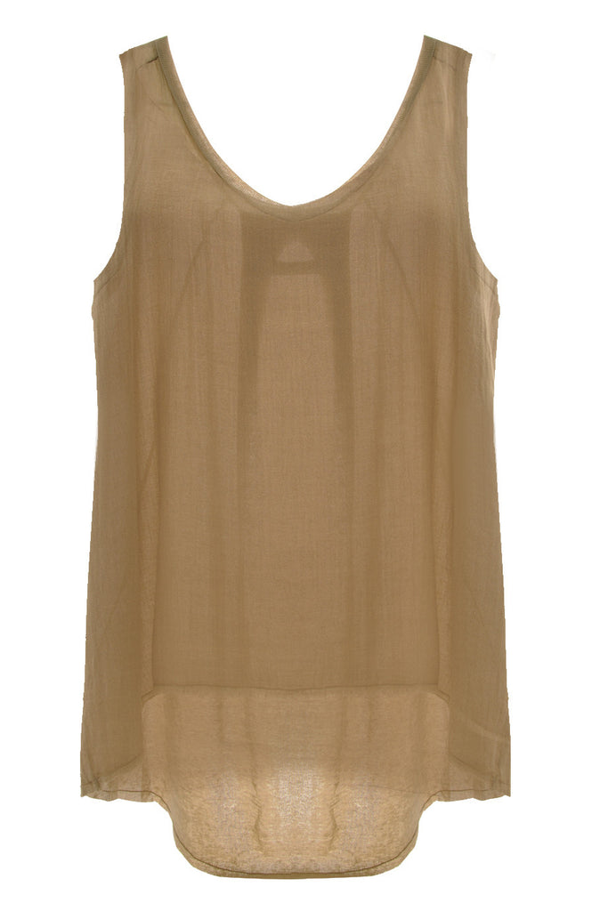 ENZA COSTA GAUZE Dune Sleeveless Top