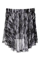 ENZA COSTA IKAT Grey Black Asymmetric Skirt