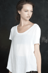 ENZA COSTA MILA White T-Shirt
