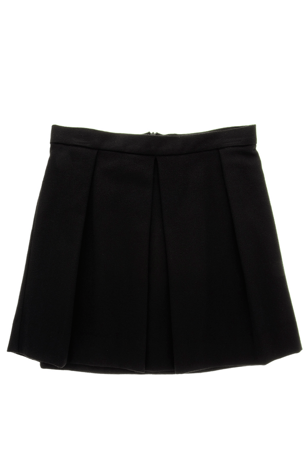 ENZA COSTA PLEATED Black Speckle Skirt
