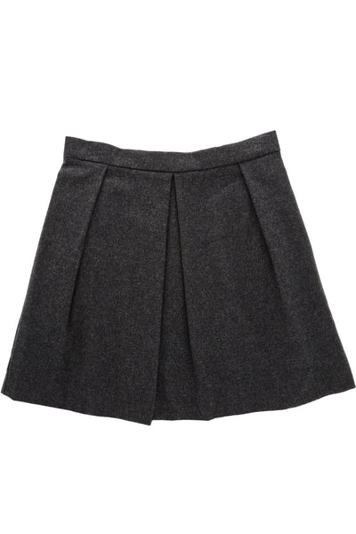 ENZA COSTA PLEATED Charcoal Speckle Skirt