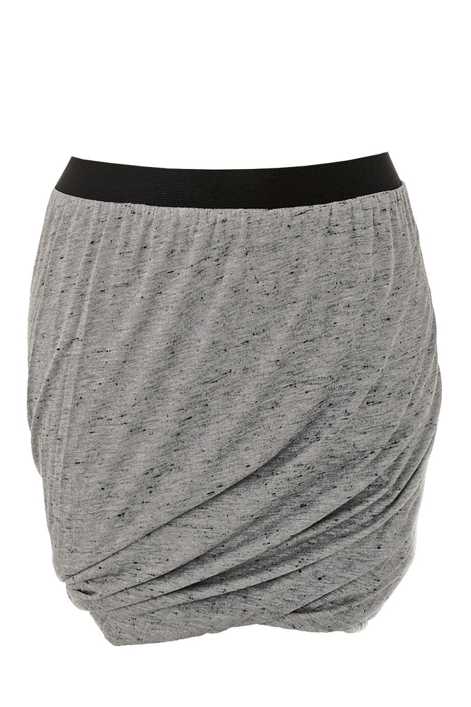 ENZA COSTA SPECKLED Jersey Doubled Grey Skirt