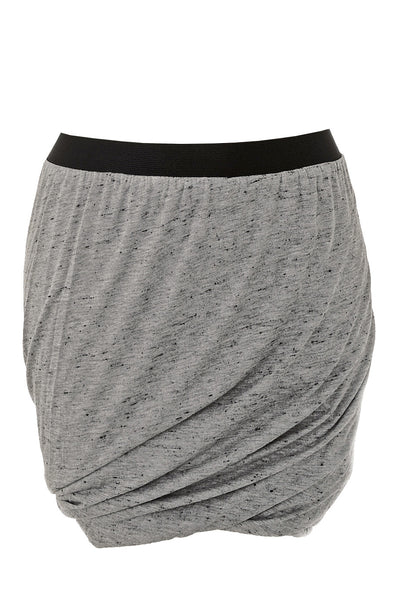SPECKLED Jersey Doubled Grey Skirt