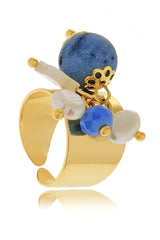 FABIO TOSI JADE Blue Chevalier Ring