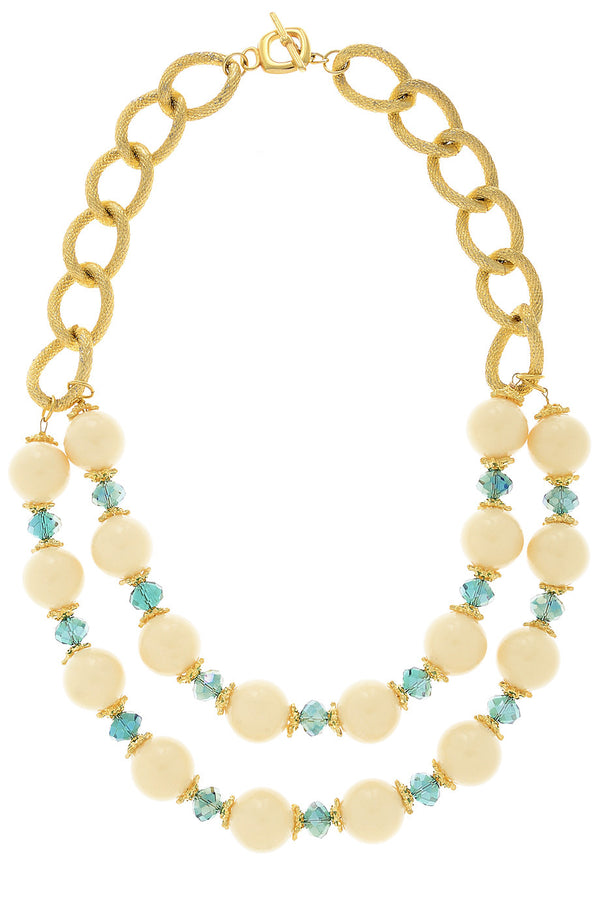 FABIO TOSI MARTINA Glossy Beads Necklace