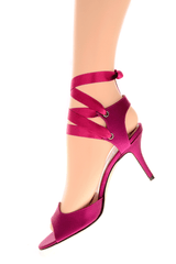 FENDI CIRCUS Purple Ribbon Sandals