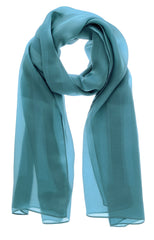 FENDI PEQUIN Blue Silk Woman Scarf