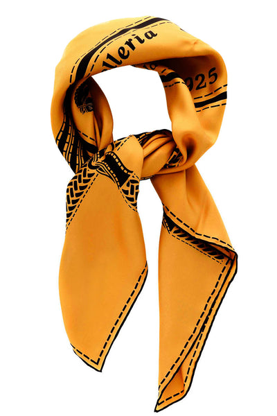 FENDI SELLERIA Ocra Silk Printed Woman Scarf
