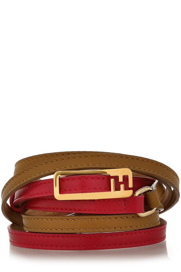 FENDI CHAMELEON Double Ride Fuchsia Tan Belt