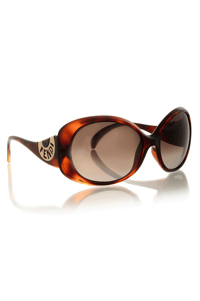 FENDI HAVANA Brown Logo Sunglasses