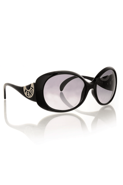 FENDI LOGO Black Sunglasses