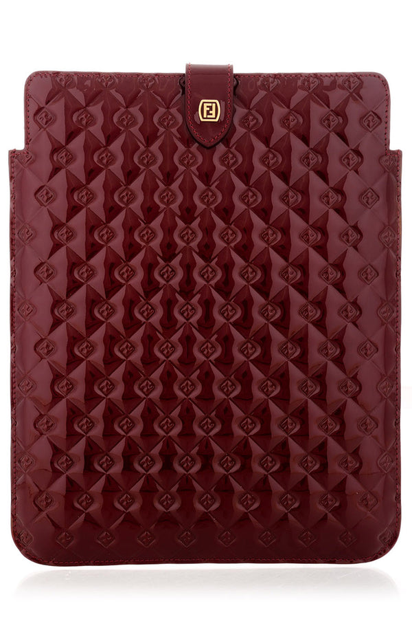 FENDI QUILTED Bordeaux iPad® Case