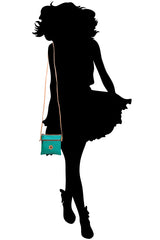 FERCHI MINI DAISY Green Patent Crossbody Bag