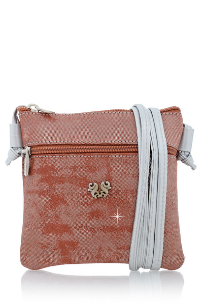 FERCHI MINI MADELINE Chestnut Crossbody Bag