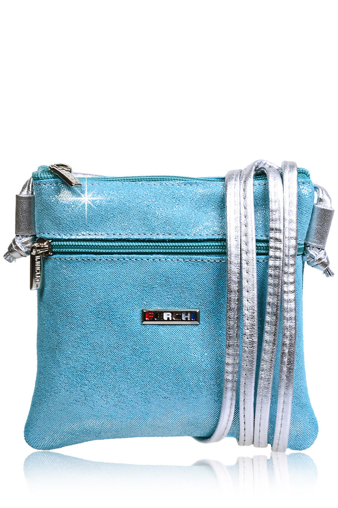 FERCHI MINI MADELINE Sky Blue Crossbody Bag